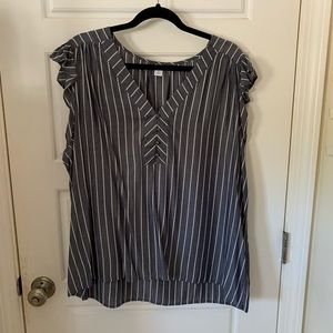 Old Navy Striped Button Top